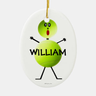 Custom Tennis Player Ceramic Ornament