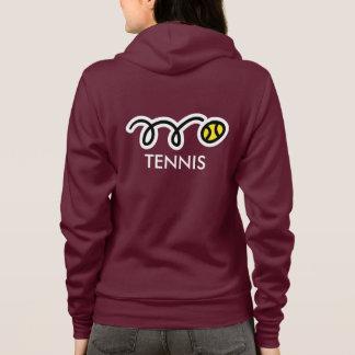 Custom tennis team apparel for women hoodie