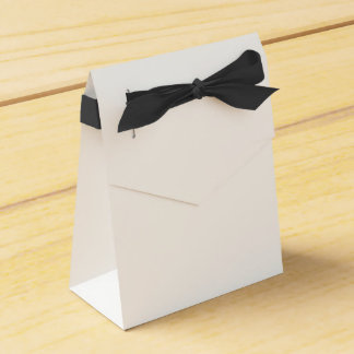 Custom Tent Favour Box (Black Ribbon)