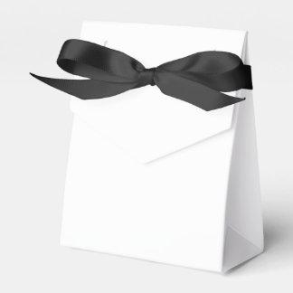 Custom Tent Favour Box (Black Ribbon) Wedding Favor Boxes