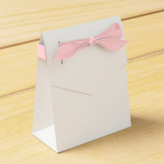 Custom Tent Favour Box (Pink Ribbon) Party Favor Boxes