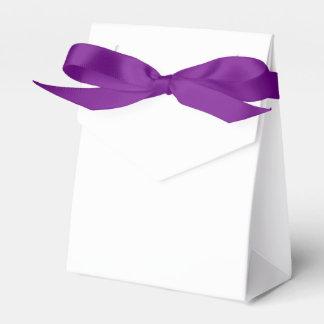 Custom Tent Favour Box (Purple Ribbon) Party Favor Boxes
