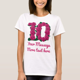 Custom text 10th personalized 10 pink T-shirt