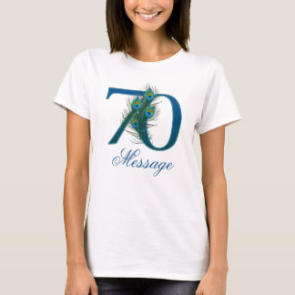 Custom text 70th  birthday or anniversary number T-Shirt