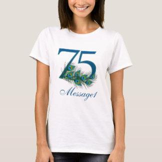 Custom text 75th birthday t-shirt