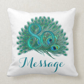 Custom text 80th Birthday Pillows
