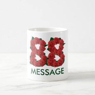 Custom text 88 add name 88th birthday coffee mug