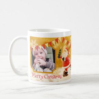 Custom Text and Photo Christmas Santa Mug