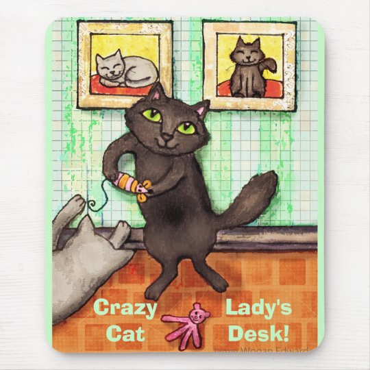 Custom Text Cat Friends Playing Mousepad