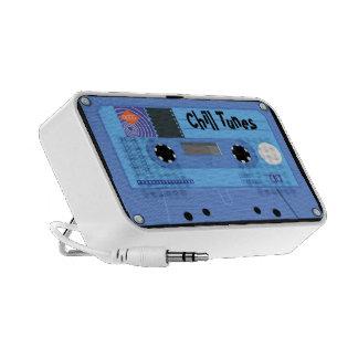 Custom Text Chill Tunes Retro Cassette Doodle Travelling Speaker