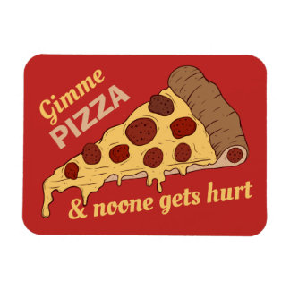 Custom Text & Color Pizza Slice magnet