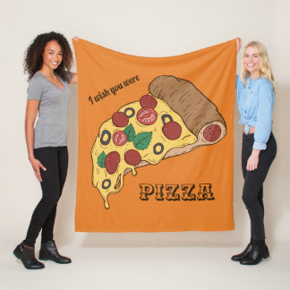 Custom Text & Color Pizza Slice throw blankets