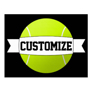 Custom Text & Color Tennis Ball Postcard