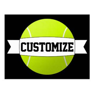 Custom Text & Colour Tennis Ball Postcard