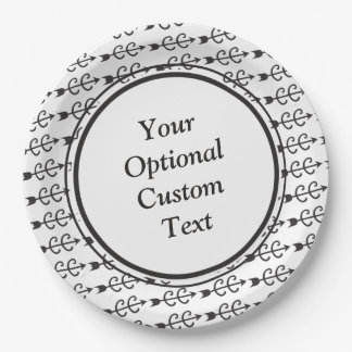 Custom Text Cross Country Running 9 Inch Paper Plate