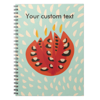 Custom Text Decorative Beautiful Abstract Tulip Spiral Notebook