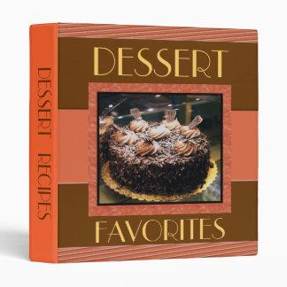 Custom Text Dessert Recipe Binder