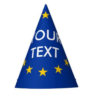 Custom text EU European Union flag party hats