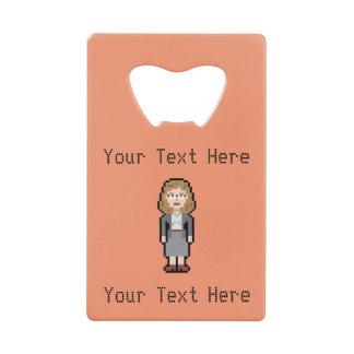 Custom Text Female Lawyer Credit Card Bottle Opener