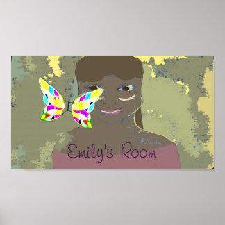 custom text girl's room poster