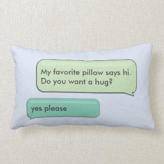 Custom Text Message Hug Lumbar Pillow Double Sided