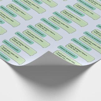Custom Text Message Present Matte Gift Wrap