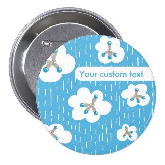 Custom Text Methane Molecules Chemistry Geek 3 Inch Round Button