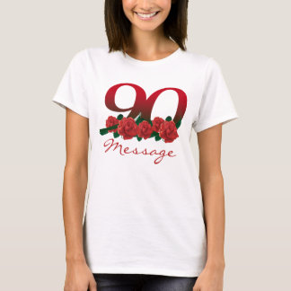 Custom text name 90th birthday number T-Shirt