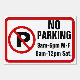 Custom Text No Parking Sign