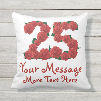 Custom text personalized 25th birthday 25 Pillow