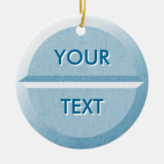 Custom Text Pill Tablet Ornament