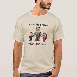 Custom Text Pixel Grandpa T-Shirt