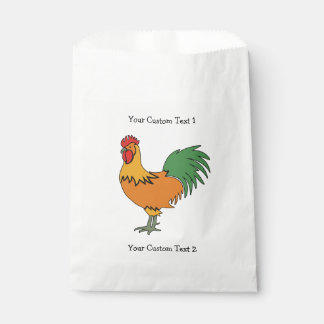 Custom Text Rooster custom favor bags