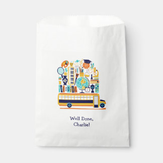Custom Text School favor bags