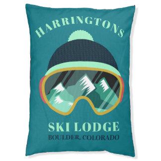 Custom Text Ski Mask dog beds
