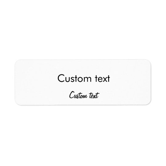 Custom Text Small Sticker Return Address Label