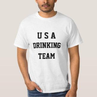 CUSTOM TEXT USA DRINKING TEAM T-SHIRT
