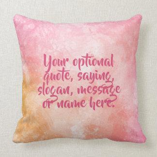 Custom text Watercolor Splash throw pillows