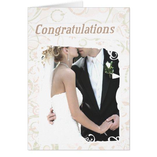Custom Text Wedding Congratulations Card