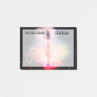 Custom Texts | Colorful Fireworks Post-it Notes