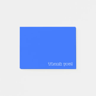 Custom Thank You | Blue Post-it Notes