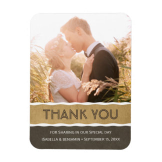 Custom Thank You Magnet | Fridge Wedding Photo