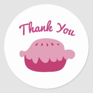 Custom thank you stickers with apple pie design