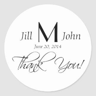 Custom Thank You Wedding Favour Stickers