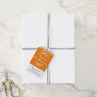 Custom Thanksgiving Pack Of Gift Tags