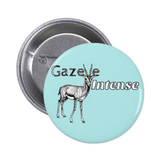 Custom the Color! Gazelle Intense Motivational 2 Inch Round Button