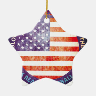 CUSTOM THE USA GIFTS CERAMIC STAR ORNAMENT