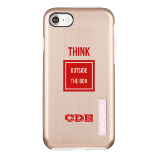 Custom Think outside box monogram Incipio DualPro Shine iPhone 7 Case