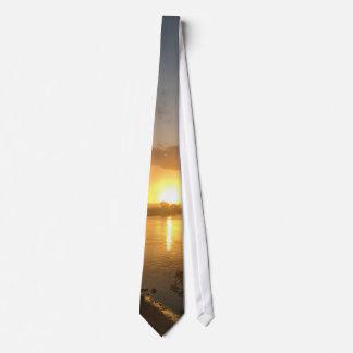 Custom Tie Sunset.