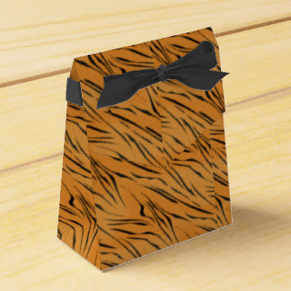 Custom Tiger Striped Party Favor Box